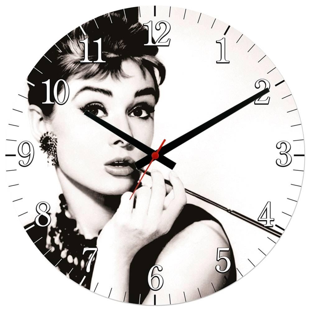 Relógio de Parede Audrey Repburn em MDF - 28 cm