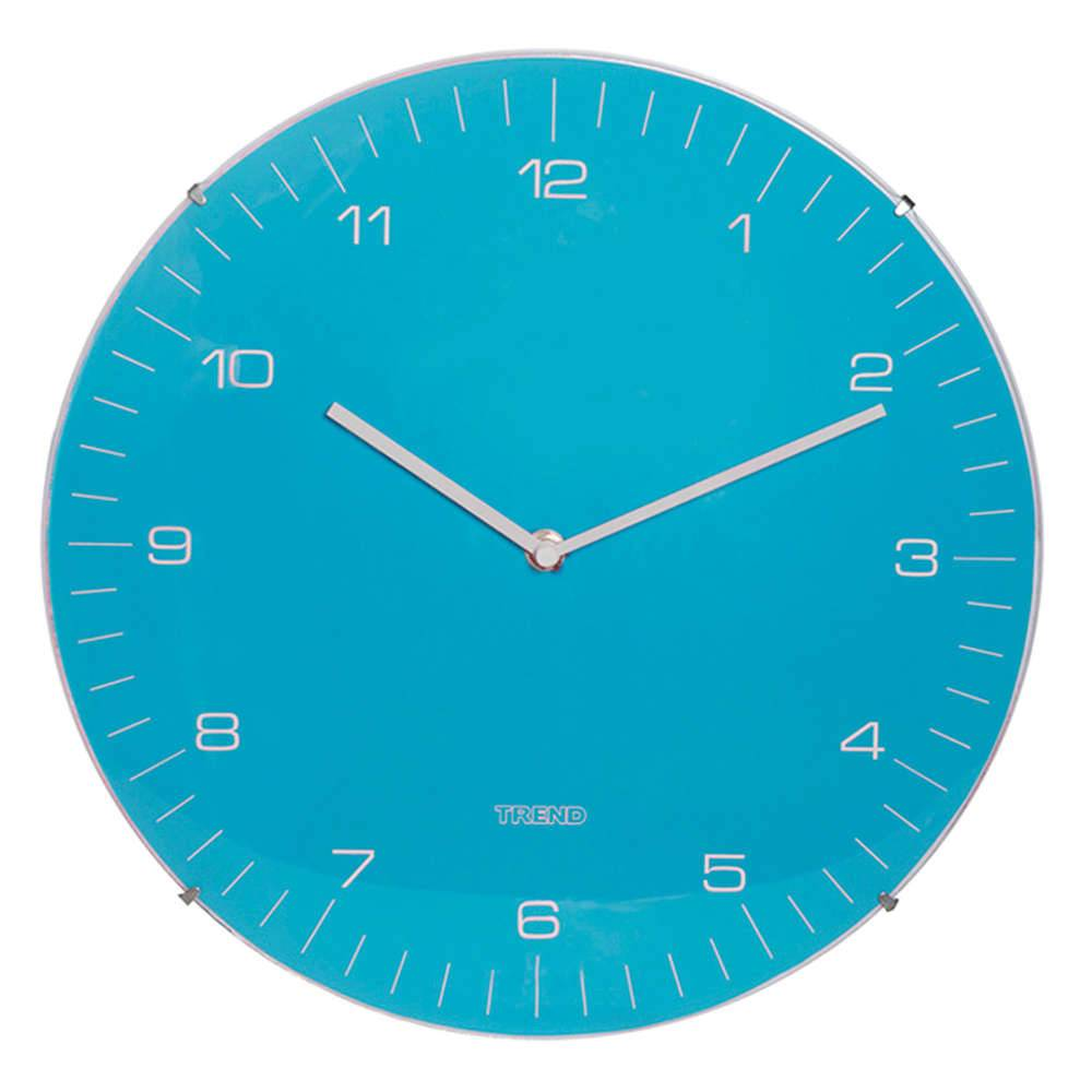 Relógio de Parede Azul - Urban - 33 cm