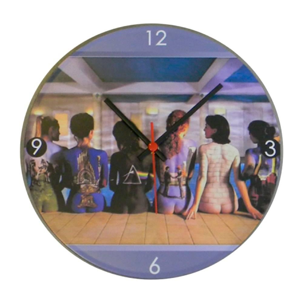 Relógio de Parede Banda Pink Floyd Multicolorido em Vinil - 30x30 cm
