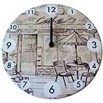 Relógio de Parede Bar e Café em Madeira MDF - 28 cm
