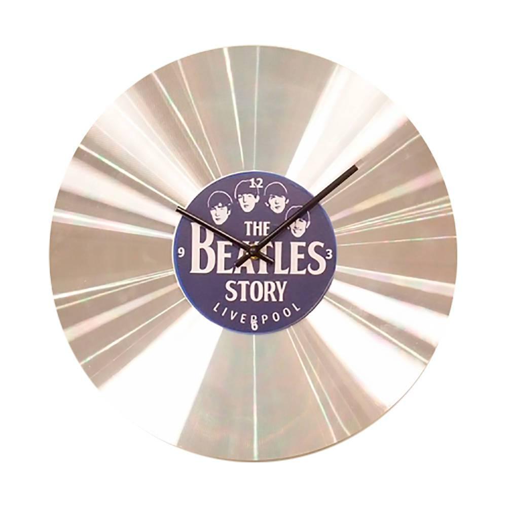 Relógio de Parede Beatles Story Prata em Alumínio - 35x35 cm