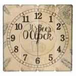 Relógio de Parede Beer Oclock em Madeira MDF - 40 cm