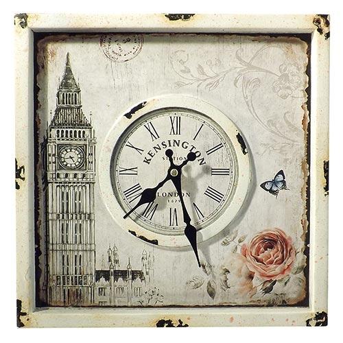 Relógio de Parede Big Ben Quadrado Oldway - 30x30 cm