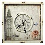 Relógio de Parede Big Ben Quadrado Oldway