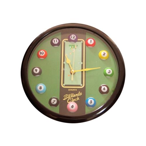 Relógio de Parede Billiards Clock c/ Borda Preta - 28 cm