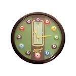 Relógio de Parede Billiards Clock c/ Borda Preta