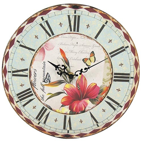 Relógio de Parede Birds and Butterflies Collection Vell Chic - 40cm