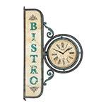 Relógio de Parede Bistro Estilo Estação Oldway - 82x50 cm