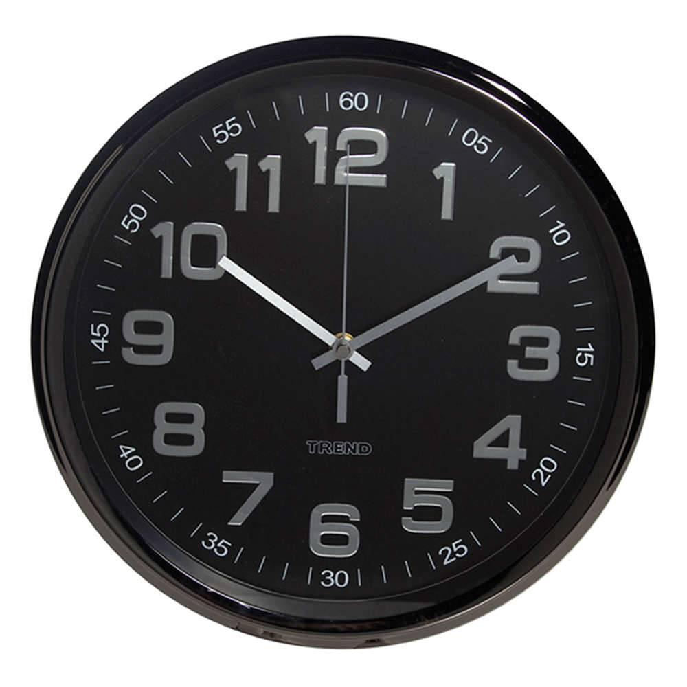 Relógio de Parede Black Still Preto em Metal - Urban - 29,5 cm