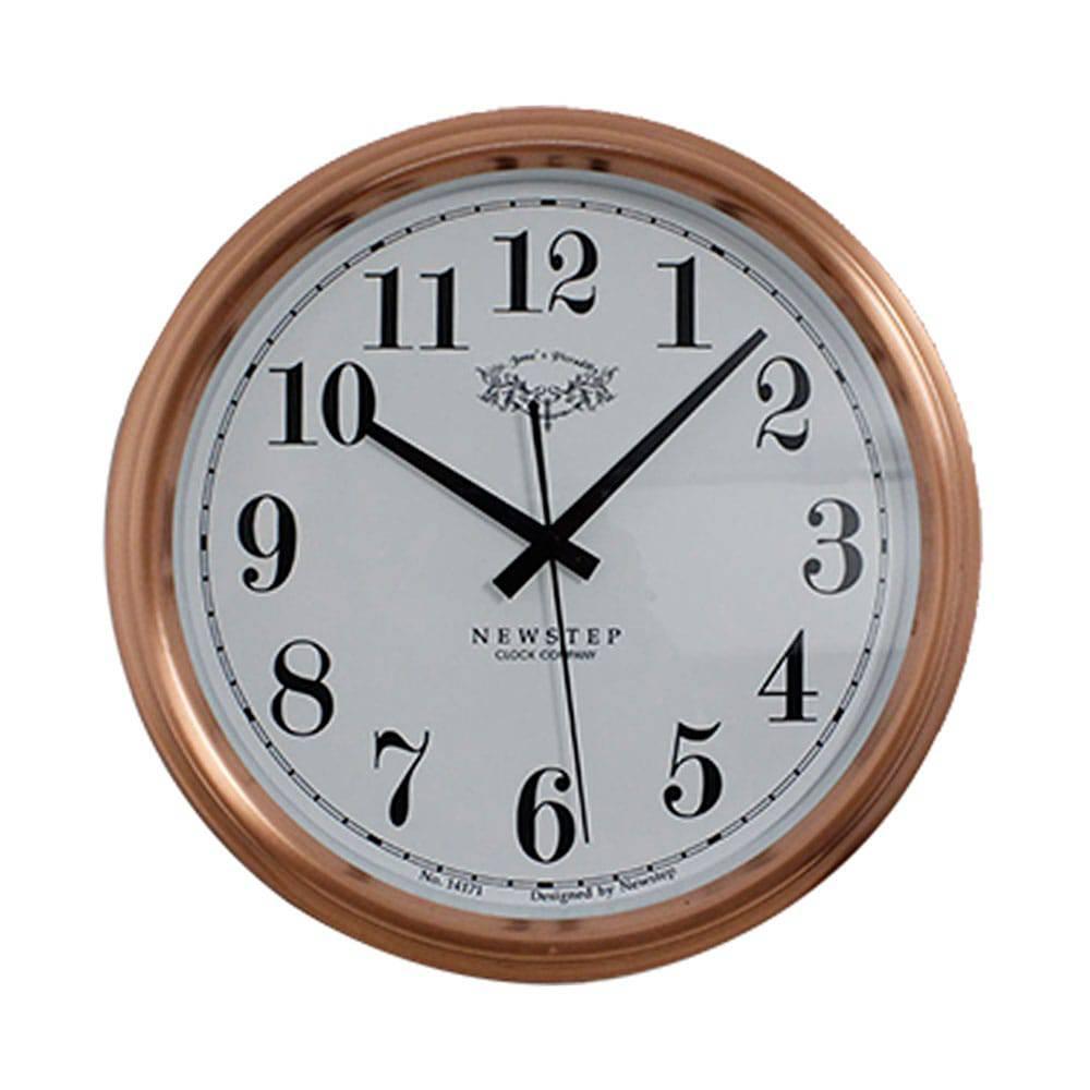 Relógio de Parede Blanche Rose Goldway - 36x7 cm