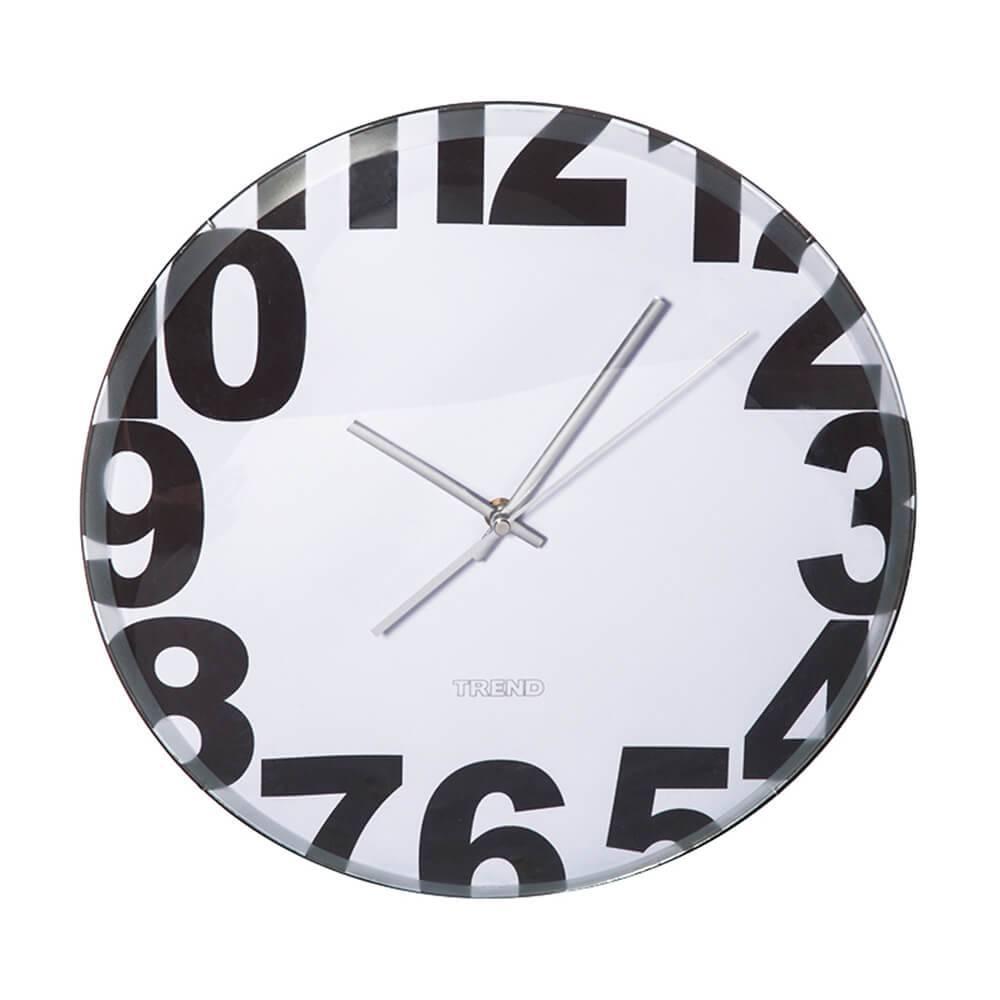 Relógio de Parede Boarder Numbers Branco - Urban - 35,5 cm