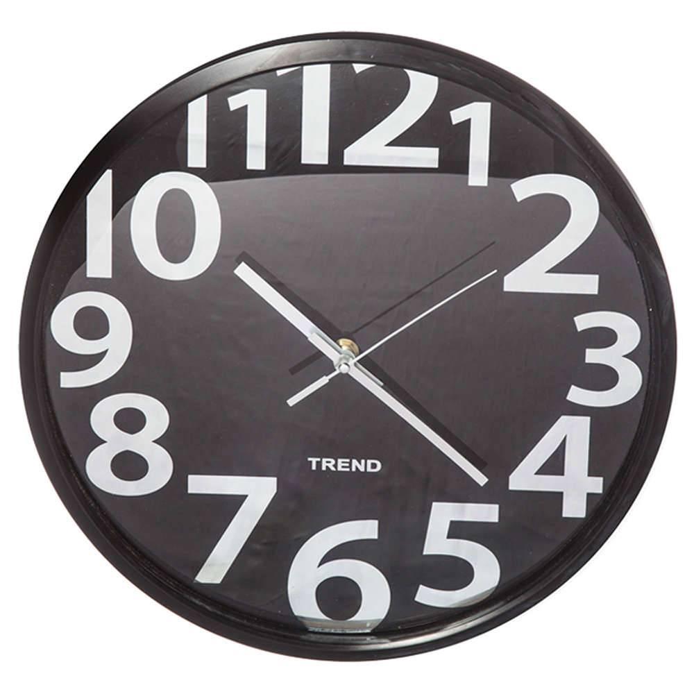 Relógio de Parede Boarder Numbers Preto - Urban - 35,5 cm