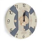 Relógio de Parede Bóia e Conchas em Madeira MDF - 28 cm