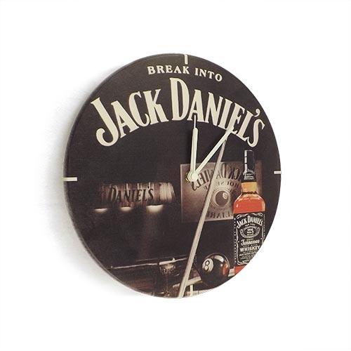 Relógio de Parede Break Into Jack Daniels em Madeira MDF - 28 cm