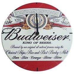 Relógio de Parede Budweiser King of Beers