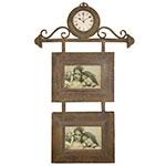 Relógio de Parede c/ 2 Porta Retratos Oldway