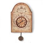 Relógio de Parede c/ Pêndulo Chardonnay Oldway