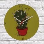 Relógio de Parede Cacto em Vidro - 30x2 cm