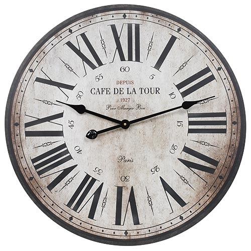 Relógio de Parede Cafe de La Tour Oldway  - Em MDF - 60 cm