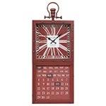 Relógio Calendar Bordeaux Vermelho Oldway