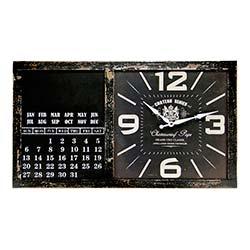Relógio de Parede Calendar Chateau Renier em MDF R$ 299,90 R$ 209,90 4x de R$ 52,48 sem juros
