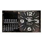 Relógio de Parede Calendar Chateau Renier em MDF - 56x32 cm