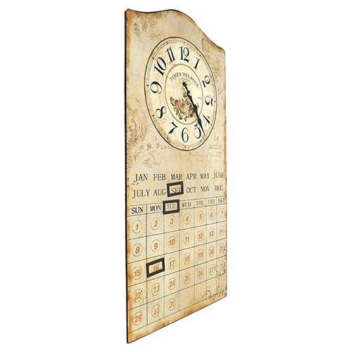 Relógio de Parede Calendário Flowers Oldway - 60x30 cm
