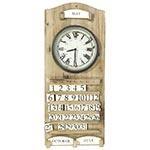 Relógio de Parede Calendário em Madeira Oldway