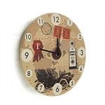 Relógio de Parede Calhambeque em Madeira MDF - 28 cm