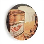 Relógio de Parede Caneco Miller em Madeira MDF - 28 cm