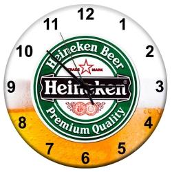 Relógio de Parede Cerveja Heineken Espumada em MDF - 28 cm R$ 139,95 R$ 93,95 1x de R$ 84,56 sem juros