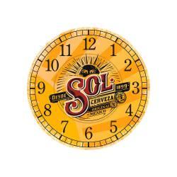 Relógio de Parede Cerveja Sol Premium Amarelo em MDF - 28 cm R$ 129,95 R$ 93,95 1x de R$ 84,56 sem juros