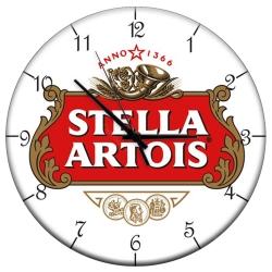 Relógio de Parede Cerveja Stella Artois Fundo Branco em MDF R$ 129,95 R$ 93,95 1x de R$ 84,56 sem juros