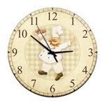 Relógio de Parede Chef Frutas em Madeira MDF - 28 cm