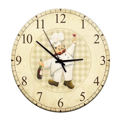 Relógio de Parede Chef Vinho em Madeira MDF R$ 129,95 R$ 93,95 1x de R$ 84,56 sem juros