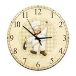 Relógio de Parede Chef Vinho em Madeira MDF - 28 cm