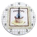 Relógio de Parede Chocolate Cupcakes em Madeira MDF - 28 cm