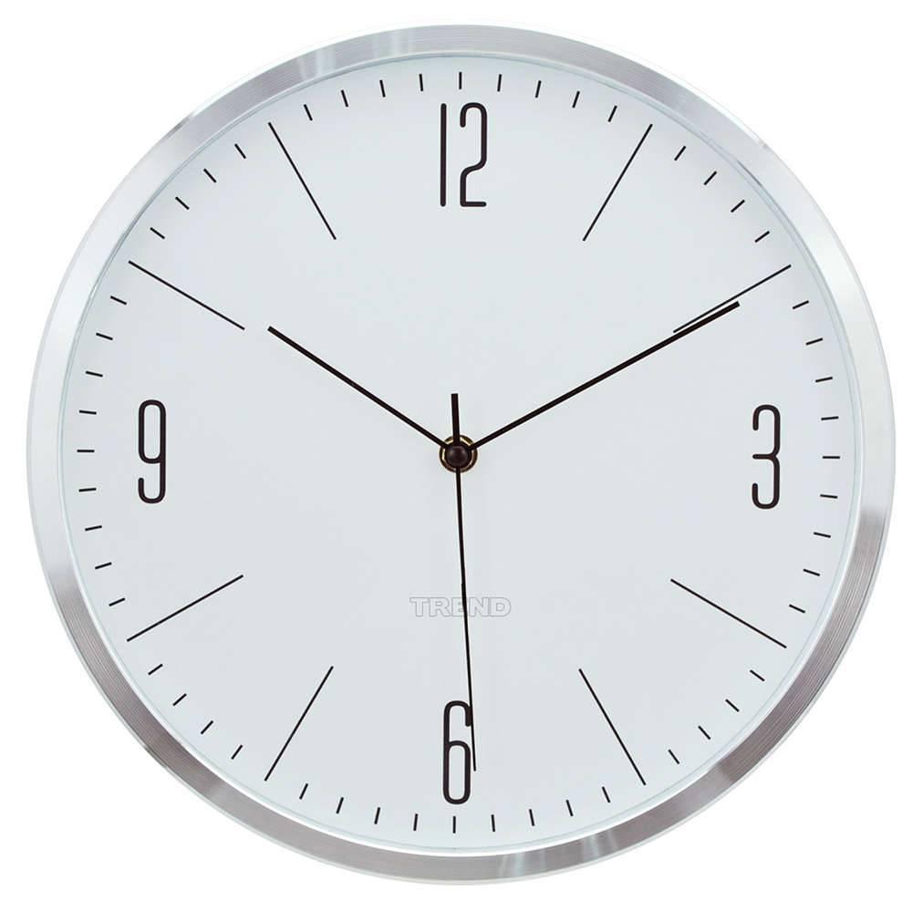 Relógio de Parede Classical Numbers Prata e Branco em Alumínio - Urban - 25 cm