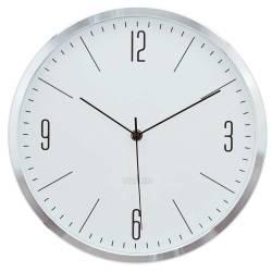 Relógio de Parede Classical Numbers Prata/Branco em Alumínio
