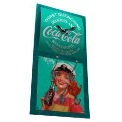 Relógio de Parede Coca-Cola Pin-Up Brown Lady com Ganchos