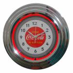 Relógio de Parede Coca-Cola Single Neon Prata Urban 38x6 cm