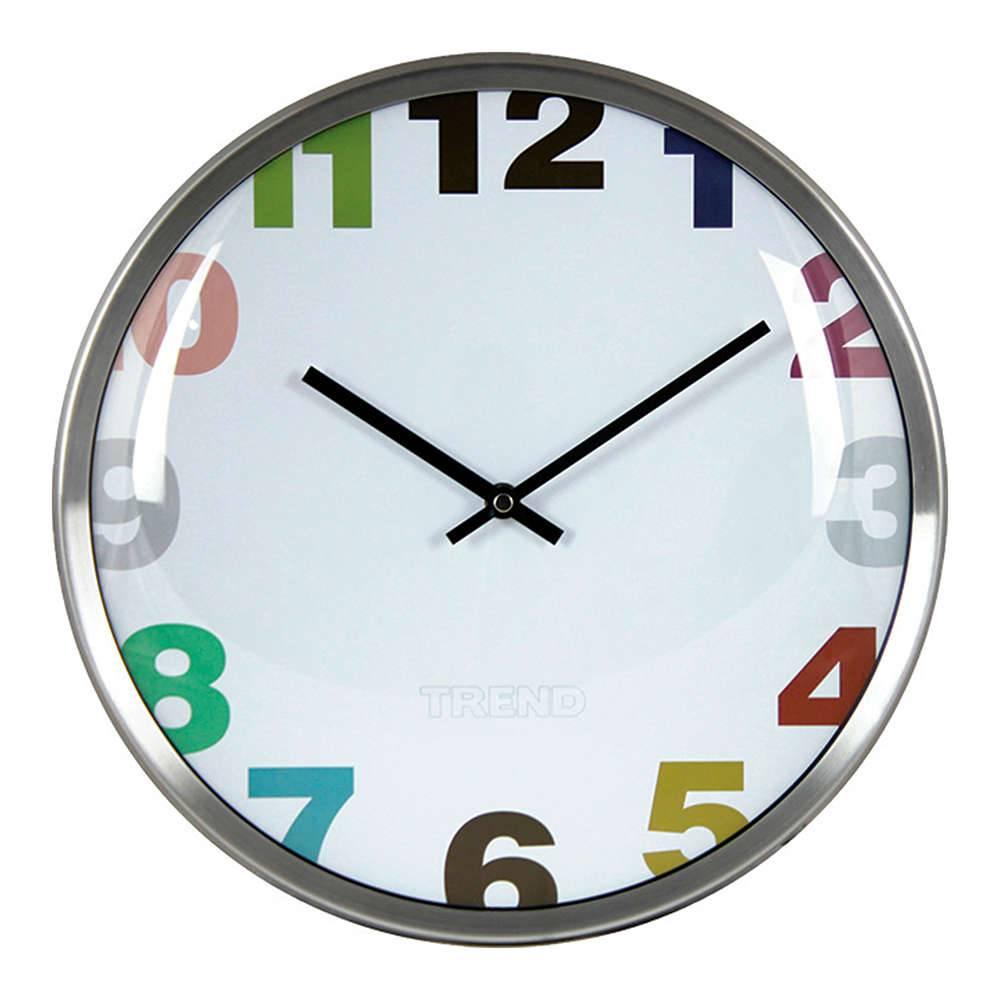 Relógio de Parede Colored Cut Numbers em Alumínio - 33x5 cm