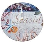 Relógio de Parede Conchas do Mar em Madeira MDF - 28 cm