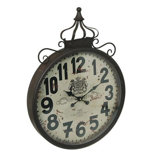Relógio de Parede Coroa em Ferro - 64x47 cm