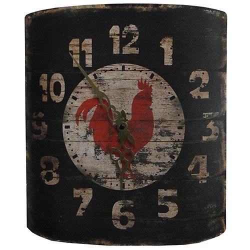 Relógio de Parede Curvo Galo - Oldway - Em Metal/Lata - 32x35 cm