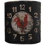 Relógio de Parede Curvo Galo - Oldway - Em Metal/Lata