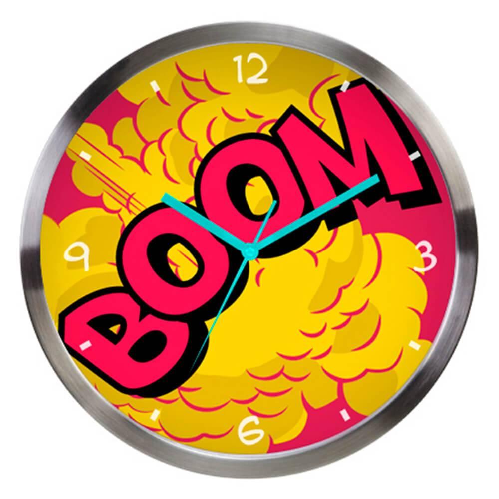 Relógio de Parede DC Comics Boom Colorido em Metal - Urban - 30,5x3,8 cm