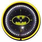 Relógio de Parede DC Comics Logo Batman Amarelo e Preto Double Neon em Vidro - Urban - 38x6 cm