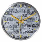 Relógio de Parede DC Comics Quadrinhos Preto e Branco em Metal - Urban - 30,5x3,8 cm