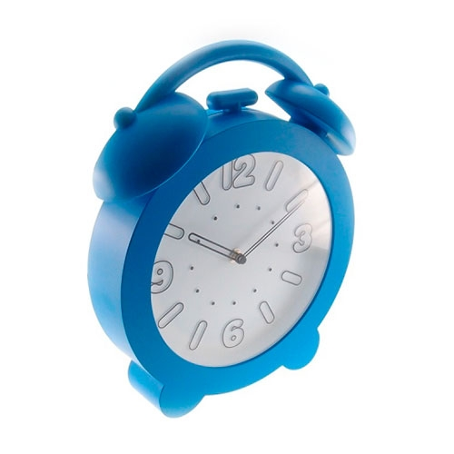 Relógio de Parede Decorativo Azul Claro - 32x28 cm